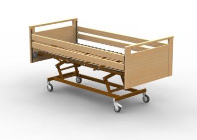 Structure du lit Luna G - Barrières bois