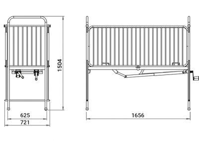 Schéma du lit à plicature