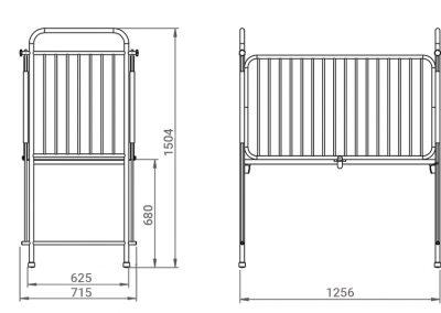 Schéma du lit articulé