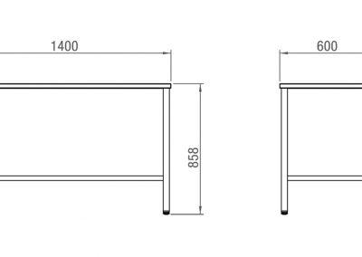 Schéma table simple de travail