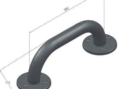 Schéma barre d'appui simple