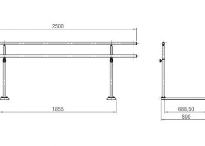 Schéma barres parallèles simples