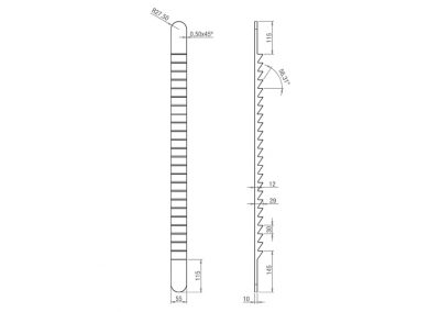 Schéma échelle d'exercice