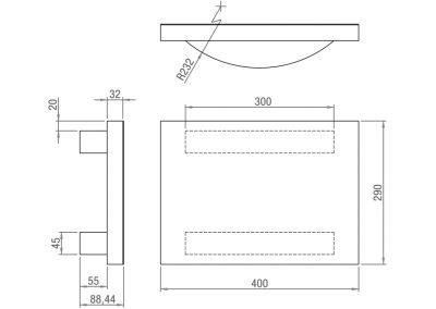 Schéma plateau d'équilibre rectangulaire