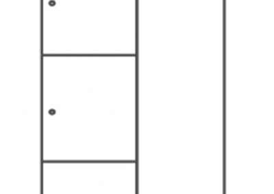 Vestiaire Rainbow simple 3 portes - 10.VE.3107
