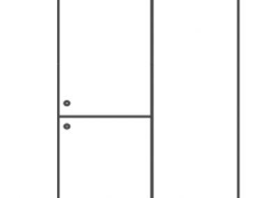 Vestiaire Rainbow simple 2 portes - 10.VE.3104