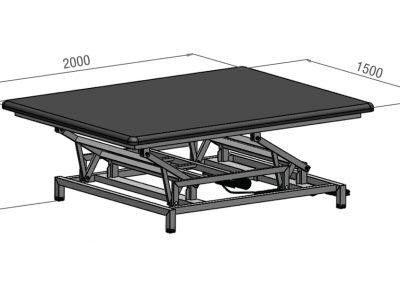 Schéma table de Bobath électrique